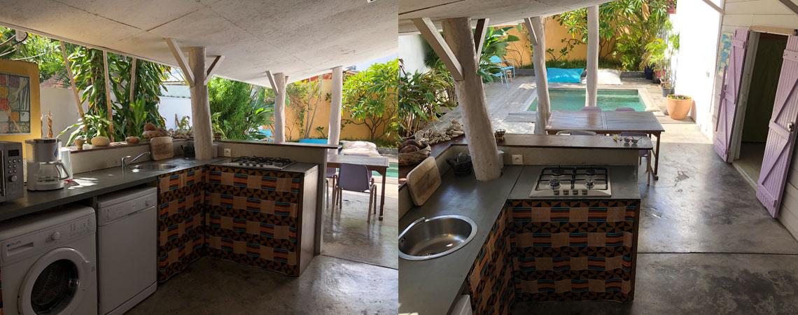 Kaze Cocotier cuisine exterieure